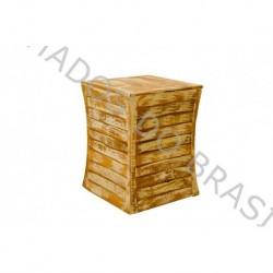 Banco Puff Torneado ( Cubo )